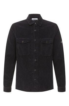Мужская хлопковая рубашка STONE ISLAND темно-серого цвета, арт. 731512111 | Фото 1