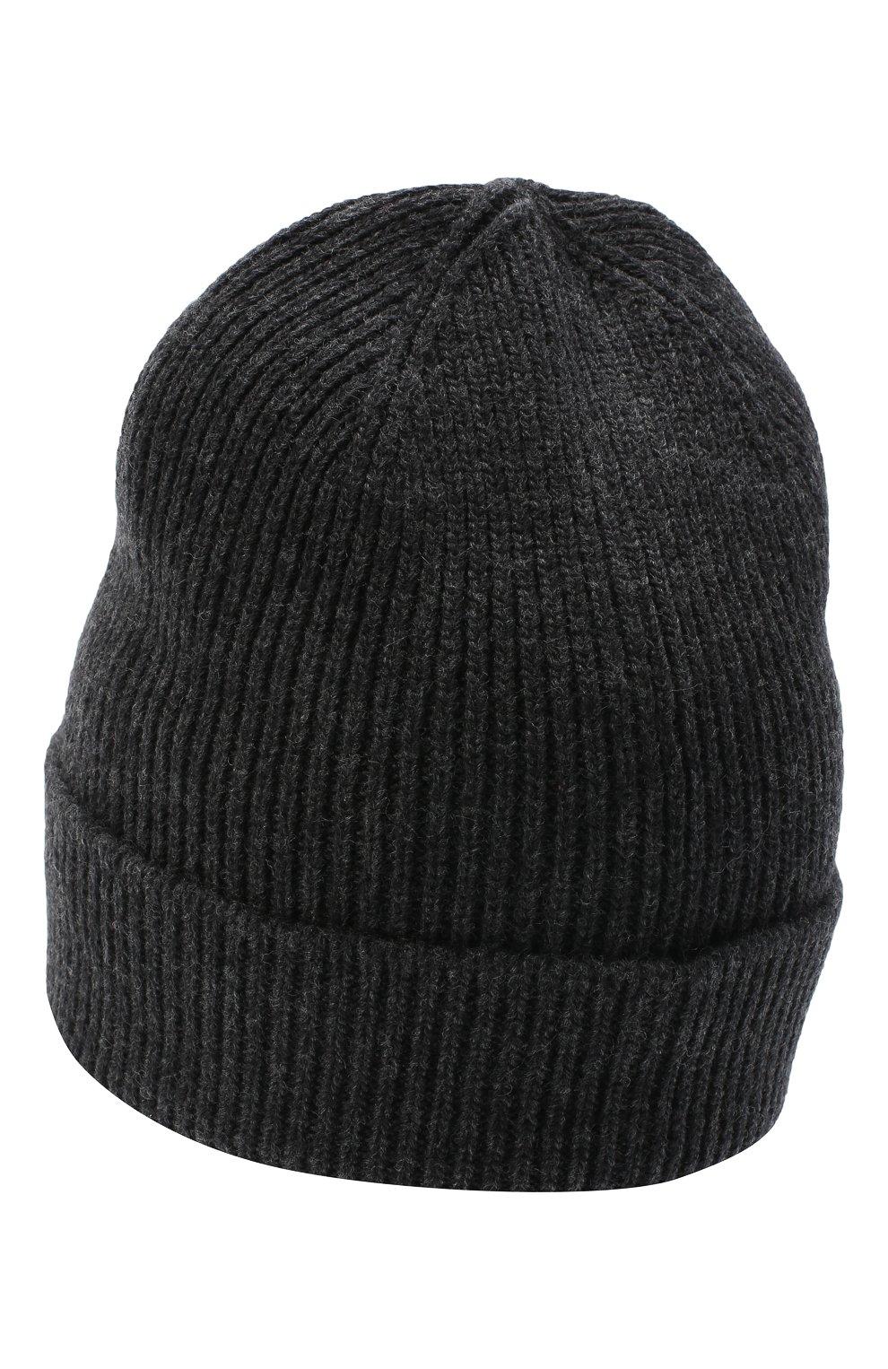 Мужская шапка из шерсти и кашемира GIVENCHY серого цвета, арт. GVCAP1/U1845 | Фото 2