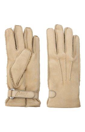 Мужские замшевые перчатки BRIONI бежевого цвета, арт. 05SI0L/09727 | Фото 2
