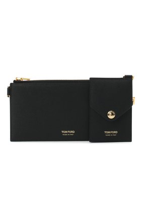Мужской комплект из футляра для ключей и футляра для кредитных карт TOM FORD черного цвета, арт. Y0294T-LCL081 | Фото 1
