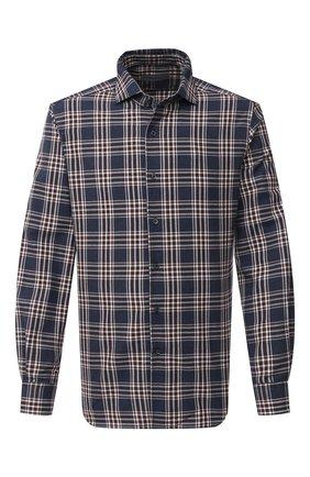 Мужская хлопковая рубашка CORNELIANI синего цвета, арт. 86P156-0801525/00 | Фото 1