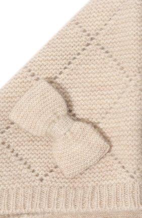 Детского кашемировая шапка OSCAR ET VALENTINE бежевого цвета, арт. BEG03   Фото 3