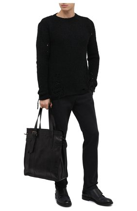 Мужская кожаная сумка-тоут OFFICINE CREATIVE черного цвета, арт. RARE/23/T0SCAN0 V0L. | Фото 2