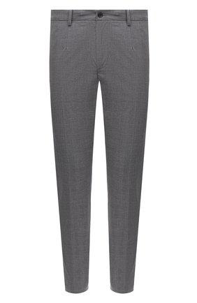 Мужские хлопковые брюки DOLCE & GABBANA серого цвета, арт. GY6FET/FQ6CI | Фото 1