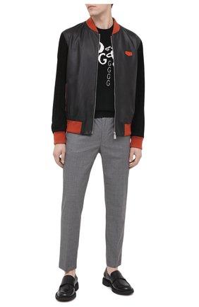 Мужские хлопковые брюки DOLCE & GABBANA серого цвета, арт. GY6FET/FQ6CI | Фото 2