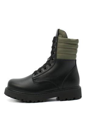 Детские кожаные ботинки FENDI черного цвета, арт. JMR337/AD7G/20-26 | Фото 2