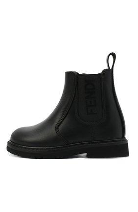 Детские кожаные ботинки FENDI черного цвета, арт. JMR343/AC7J/20-26 | Фото 2