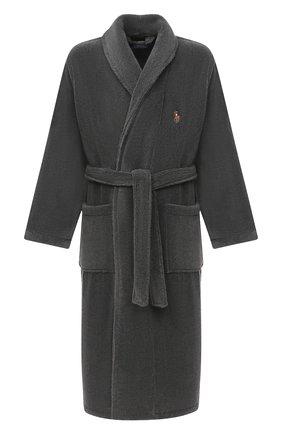 Мужской хлопковый халат POLO RALPH LAUREN серого цвета, арт. 714621695 | Фото 1