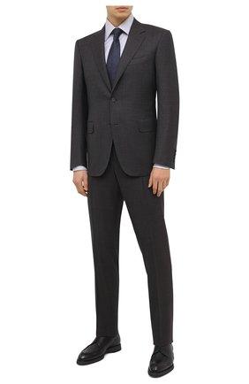 Мужской шерстяной костюм CANALI коричневого цвета, арт. 11280/19/BR02785 | Фото 1 (Рукава: Длинные; Материал внешний: Шерсть; Материал подклада: Купро; Костюмы М: Однобортный; Стили: Классический)