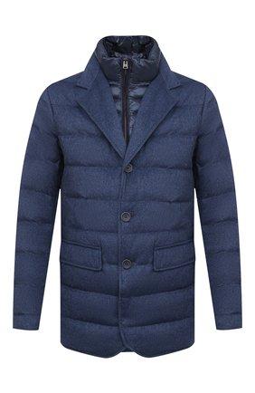 Мужская пуховая куртка HERNO синего цвета, арт. PI0583U/38087 | Фото 1