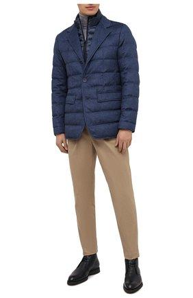 Мужская пуховая куртка HERNO синего цвета, арт. PI0583U/38087 | Фото 2