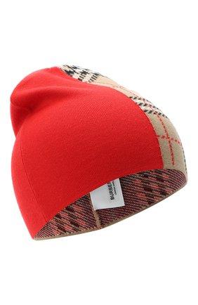 Детского шерстяная шапка BURBERRY красного цвета, арт. 8034337 | Фото 1