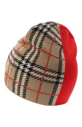 Детского шерстяная шапка BURBERRY красного цвета, арт. 8034337 | Фото 2