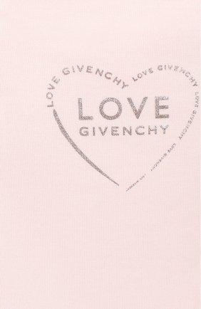Детский комплект из трех предметов GIVENCHY светло-розового цвета, арт. H98097 | Фото 2