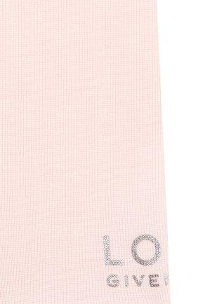 Детский комплект из трех предметов GIVENCHY светло-розового цвета, арт. H98097 | Фото 8