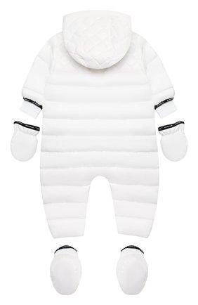 Детского утепленный комбинезон с варежками и пинетками GIVENCHY белого цвета, арт. H96017 | Фото 2