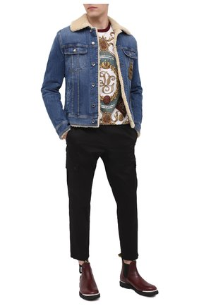 Мужская джинсовая куртка DOLCE & GABBANA темно-синего цвета, арт. G9JB5Z/G8CR9 | Фото 2