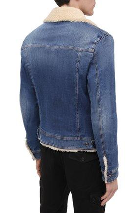 Мужская джинсовая куртка DOLCE & GABBANA темно-синего цвета, арт. G9JB5Z/G8CR9 | Фото 4