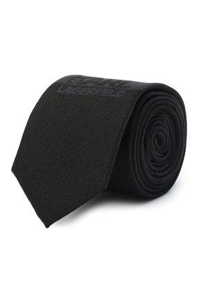 Детский галстук KARL LAGERFELD KIDS черного цвета, арт. Z20049 | Фото 1