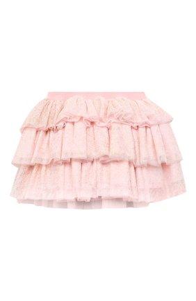 Детская юбка CHARABIA светло-розового цвета, арт. S13011   Фото 1