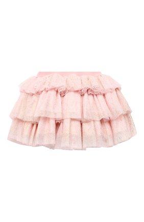 Детская юбка CHARABIA светло-розового цвета, арт. S13011   Фото 2