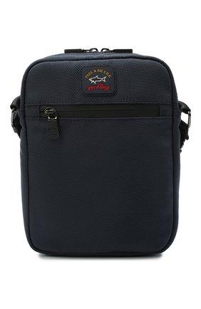 Мужская текстильная сумка PAUL&SHARK темно-синего цвета, арт. I20P8130/HVB   Фото 1