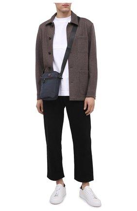 Мужская текстильная сумка PAUL&SHARK темно-синего цвета, арт. I20P8130/HVB   Фото 2
