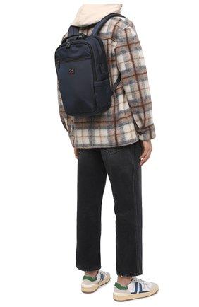 Мужской текстильный рюкзак PAUL&SHARK темно-синего цвета, арт. I20P8132/HVB   Фото 2
