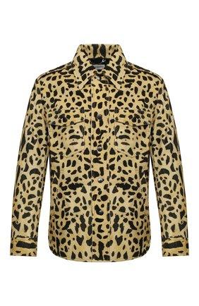 Мужская хлопковая куртка DRIES VAN NOTEN желтого цвета, арт. 202-20501-1246   Фото 1