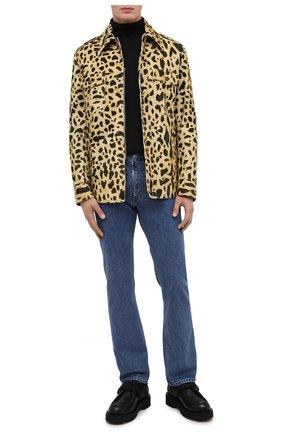 Мужская хлопковая куртка DRIES VAN NOTEN желтого цвета, арт. 202-20501-1246   Фото 2