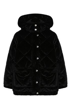 Детская стеганая куртка SONIA RYKIEL ENFANT черного цвета, арт. 20W10U09   Фото 1
