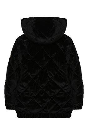 Детская стеганая куртка SONIA RYKIEL ENFANT черного цвета, арт. 20W10U09   Фото 2