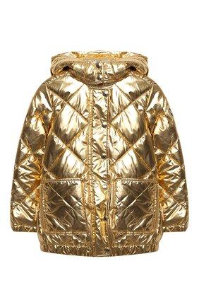 Детская стеганая куртка SONIA RYKIEL ENFANT золотого цвета, арт. 20W10U09   Фото 1