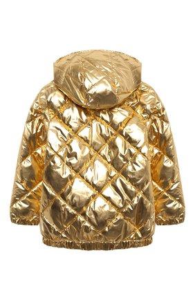 Детская стеганая куртка SONIA RYKIEL ENFANT золотого цвета, арт. 20W10U09   Фото 2