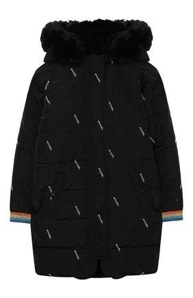 Детское утепленное пальто SONIA RYKIEL ENFANT черного цвета, арт. 20W10U08   Фото 1