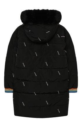 Детское утепленное пальто SONIA RYKIEL ENFANT черного цвета, арт. 20W10U08   Фото 2
