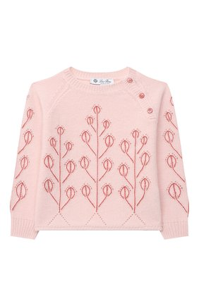 Детский кашемировый пуловер LORO PIANA розового цвета, арт. FAL3405 | Фото 1