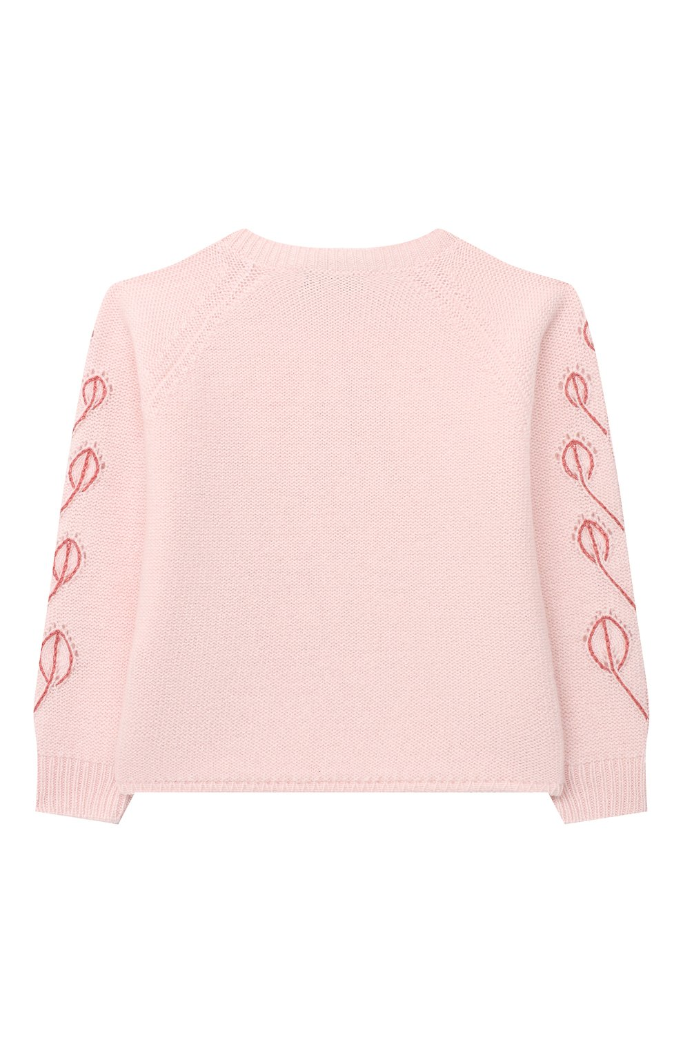 Детский кашемировый пуловер LORO PIANA розового цвета, арт. FAL3405   Фото 2