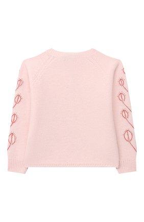Детский кашемировый пуловер LORO PIANA розового цвета, арт. FAL3405 | Фото 2