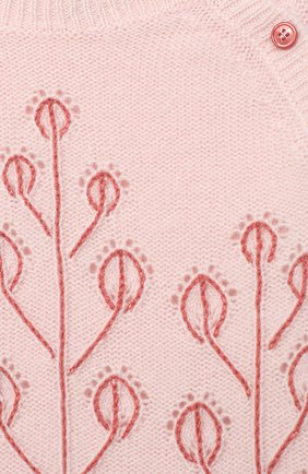Детский кашемировый пуловер LORO PIANA розового цвета, арт. FAL3405   Фото 3