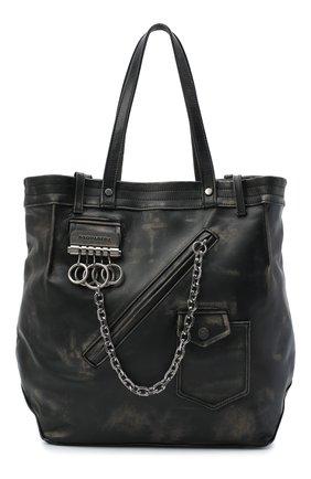 Мужская кожаная сумка-шопер DSQUARED2 черного цвета, арт. SPM0027 04603447 | Фото 1