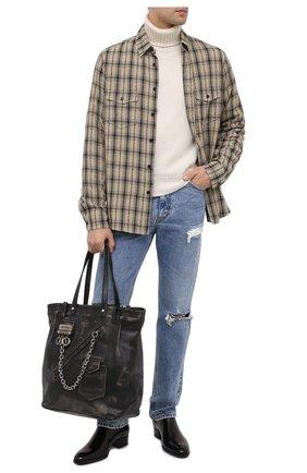 Мужская кожаная сумка-шопер DSQUARED2 черного цвета, арт. SPM0027 04603447 | Фото 2