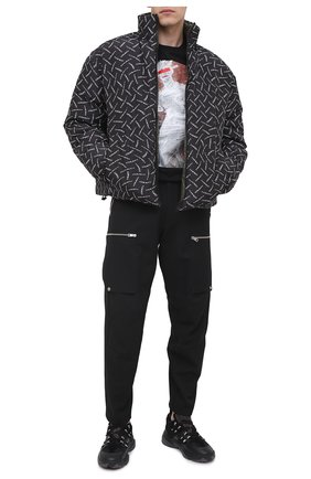 Мужская двусторонняя пуховая куртка MARCELO BURLON черного цвета, арт. CMED029F20FAB001 | Фото 2