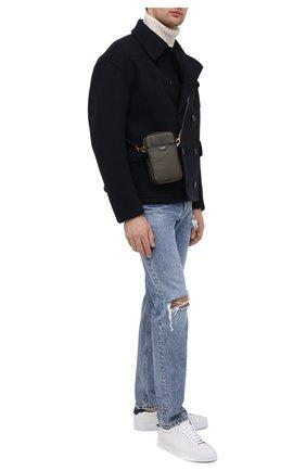 Мужская кожаная сумка TOM FORD хаки цвета, арт. H0446T-LCL080 | Фото 2