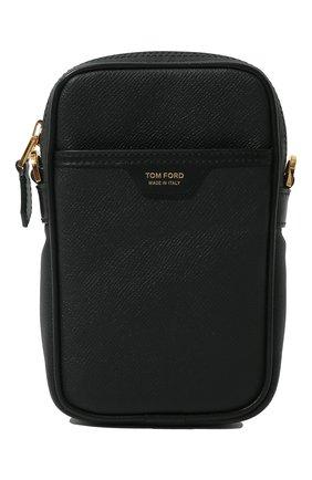 Мужская кожаная сумка TOM FORD черного цвета, арт. H0446T-LCL080   Фото 1 (Ремень/цепочка: На ремешке; Материал: Натуральная кожа)
