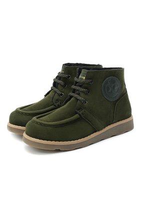 Детские замшевые ботинки DOLCE & GABBANA зеленого цвета, арт. DA0953/A1275/29-36 | Фото 1