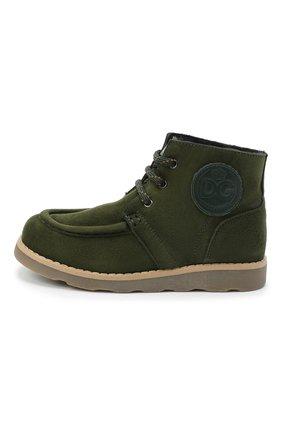Детские замшевые ботинки DOLCE & GABBANA зеленого цвета, арт. DA0953/A1275/29-36 | Фото 2