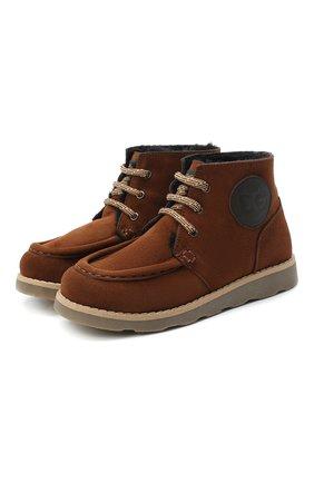 Детские замшевые ботинки DOLCE & GABBANA коричневого цвета, арт. DA0953/A1275/29-36 | Фото 1