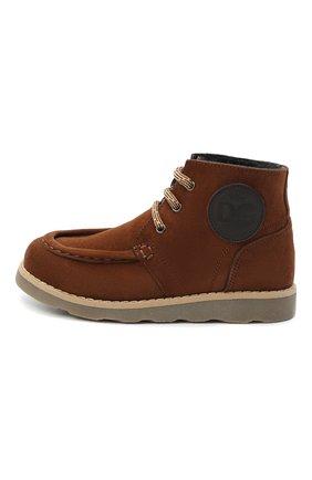 Детские замшевые ботинки DOLCE & GABBANA коричневого цвета, арт. DA0953/A1275/29-36 | Фото 2