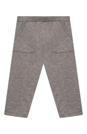 Детские кашемировые брюки OSCAR ET VALENTINE серого цвета, арт. PAN01S | Фото 1